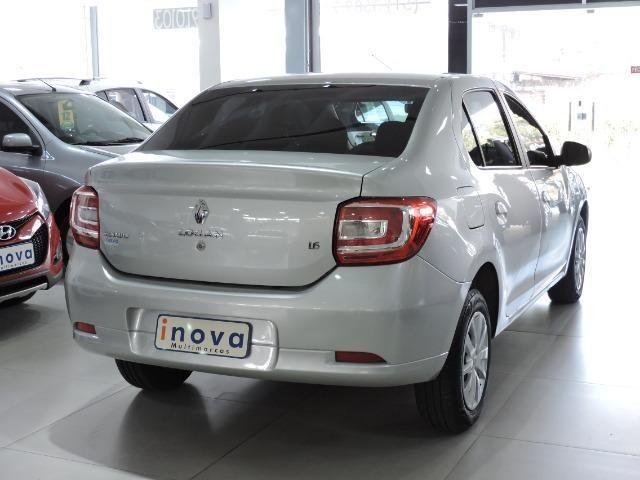 Renault Logan Expression 1.6 completo prata - apenas 43.500 km - Foto 3