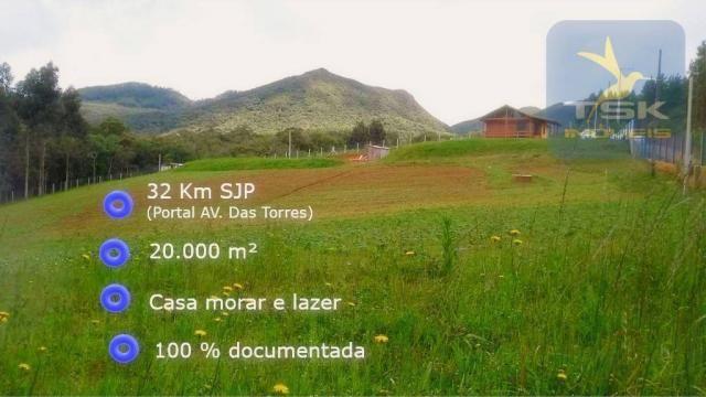 CH0315 - São José dos Pinhais Chácara 20.000 m² casa nova, internet fibra ótica.