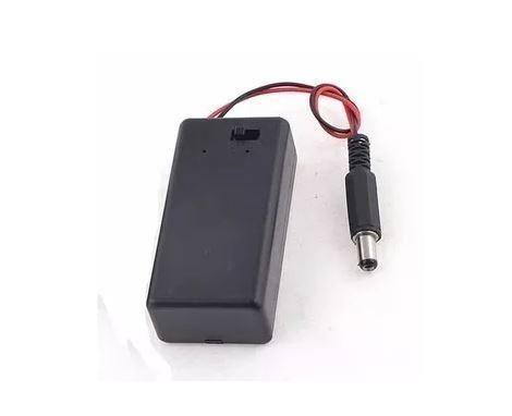 COD-CP21 Caixa Case Suporte Bateria 9v Chave On/off + Pino Ac Arduino Automação Robotica - Foto 2