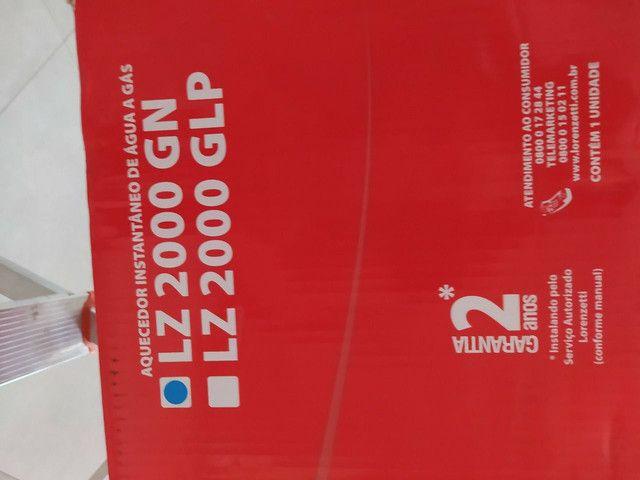 Aquecedor a gás LZ2000 novo na caixa com NF - Foto 5