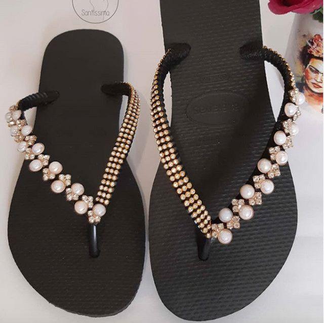 Sandálias Havaianas decoradas femininas