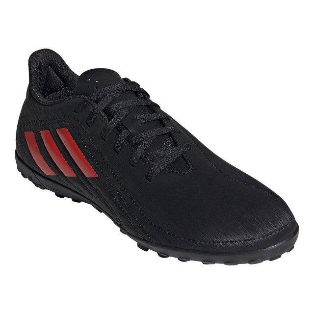 Chuteira Society Adidas Deportivo - Exclusiva - Preto+Vermelho - Foto 2