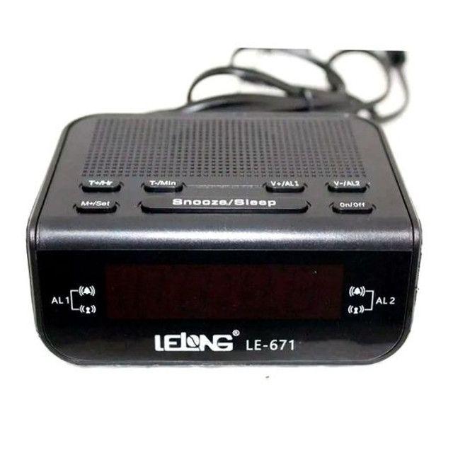 Rádio relógio completo diversas funções de alarme - Foto 2