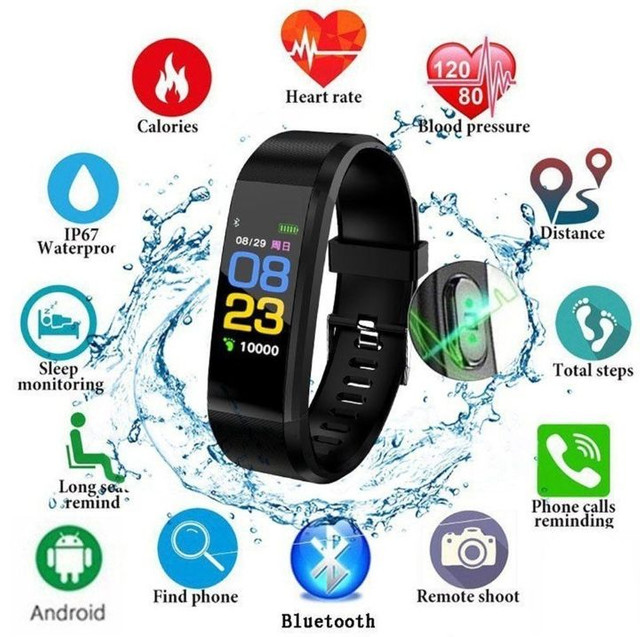 Smartband Relogio Inteligente Id115 Plus Hr Monitor Cardíaco