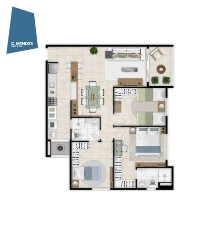 Apartamento com 3 dormitórios à venda, 75 m² por R$ 576.309,02 - Benfica - Fortaleza/CE - Foto 4