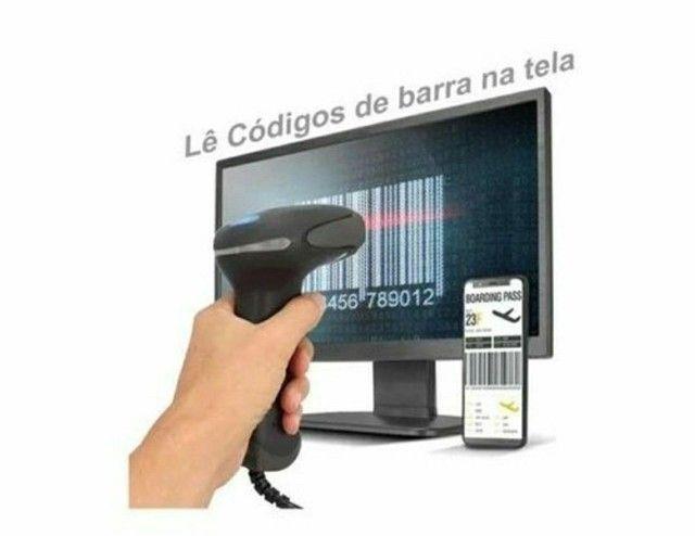 Leitor Codigo Barras Usb 1d Lê Boleto Na Tela, Monitor, e Celular - Foto 6