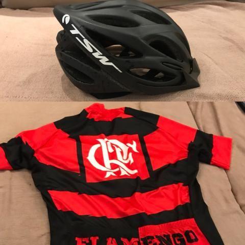 Capacete + Camisa de ciclismo FLAMENGO