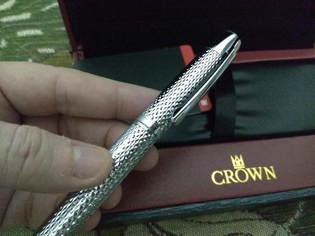 Caneta Crown Roller Ball Royal Collection Filigran Silver Prata - Foto 5