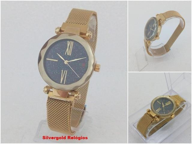 9b6534af6 Relógio Feminino Gucci Pulseira Magnética, Dourado, Novo, Garantia. Leia o  Anuncio