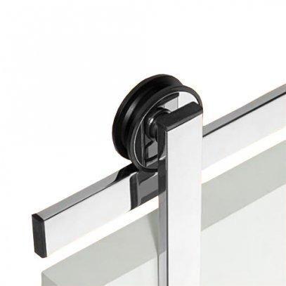 Kit trilho suspenso para porta de madeira 2,00M - Foto 2