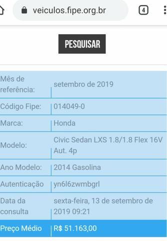 Honda Civic 1.8 LXS 16V - 2014 - Foto 7