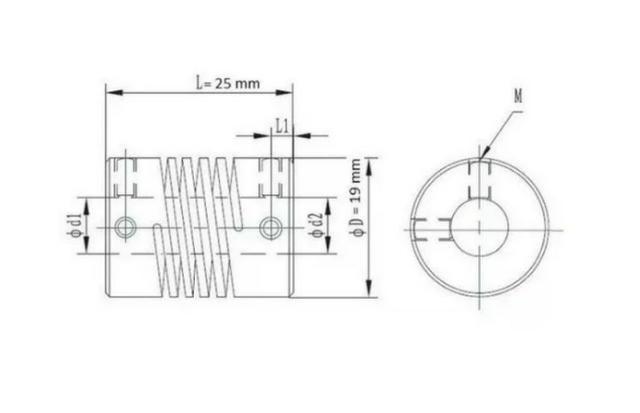 COD-CP159 Acoplamento Flexível 5x8mm Eixo,fuso Impressora 3D Arduino Automação Robotica - Foto 2