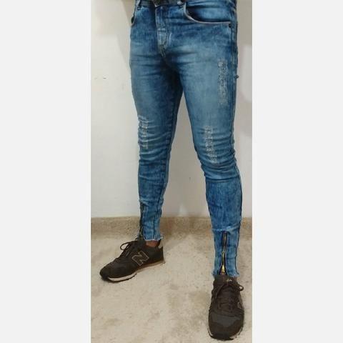 Calças Masculinas com Zíper