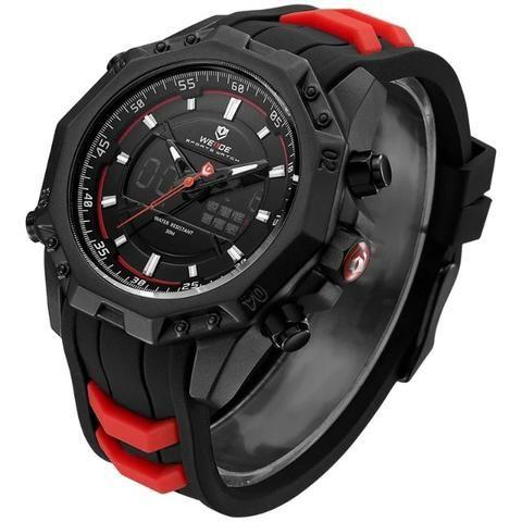 c6daac7bbb6 Relógio Masculino Importado Analógico E Digital Weide 100% Original 1 ano  de garantia