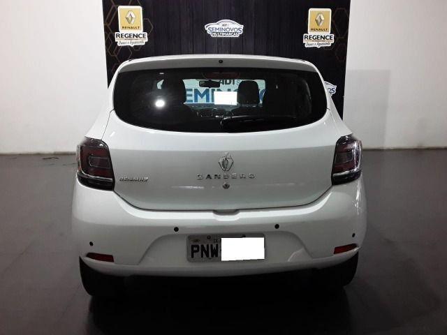 Renault Sandero 1.0 Vibe, 2017/2018, Completo, Branco, 48.000km - Foto 4