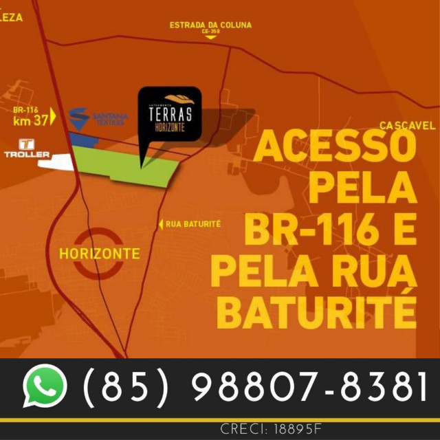 Loteamento em Horizonte no Ceará (Ligue agora) !%%%