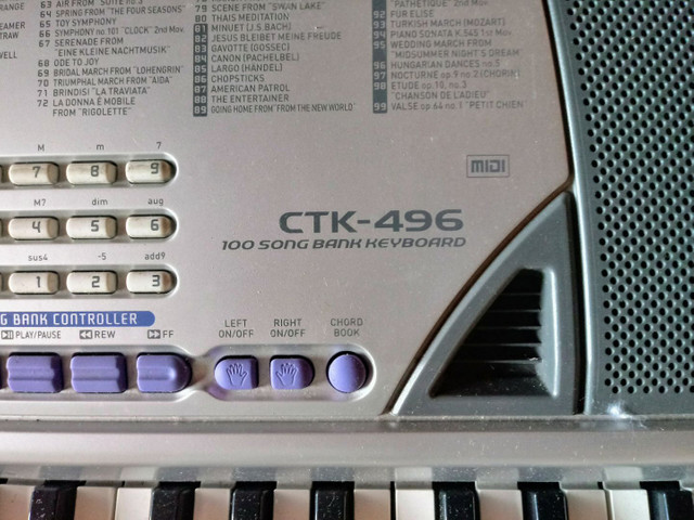 Teclado Casio CTK 496 400reais - Foto 2