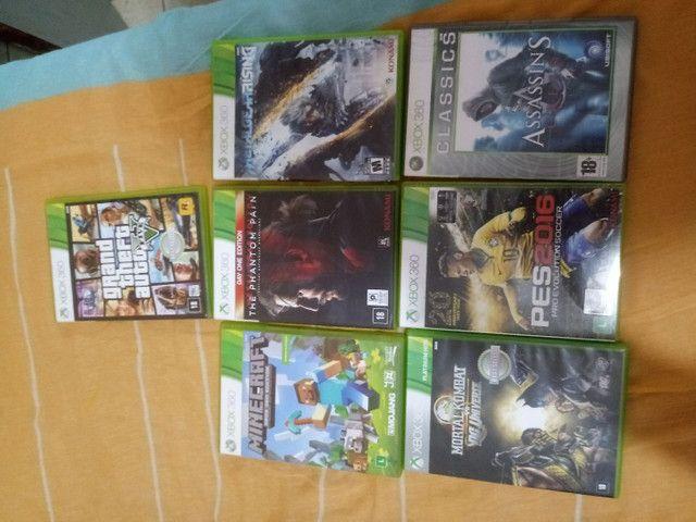 Xbox360 bloqueado com jogos originais preço negocialvel - Foto 4