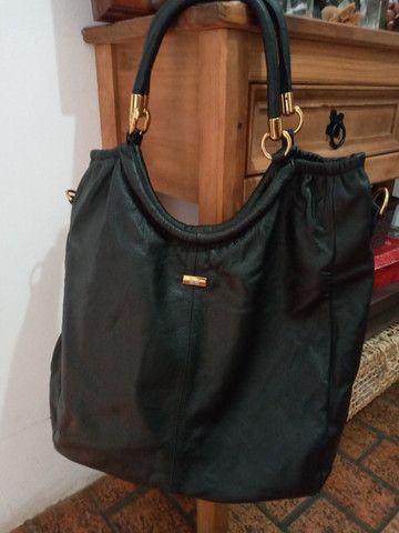 Bolsa em couro preta - Steil - Foto 5