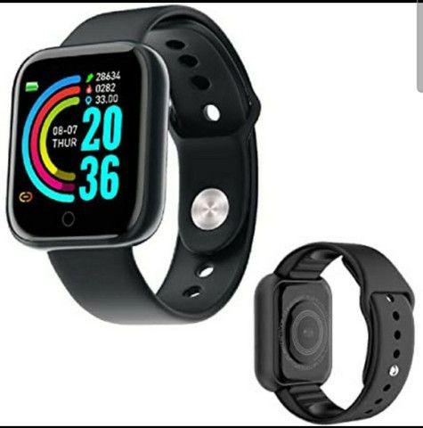 Smartwatch Y68 D20 Relogio inteligente conexão Bluetooth  - Foto 2