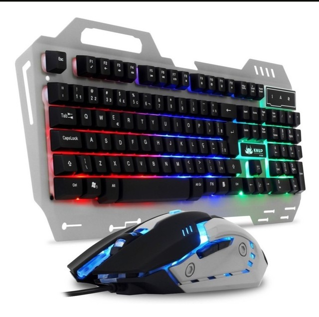 Teclado e mouse Gamer Knup KP-2054