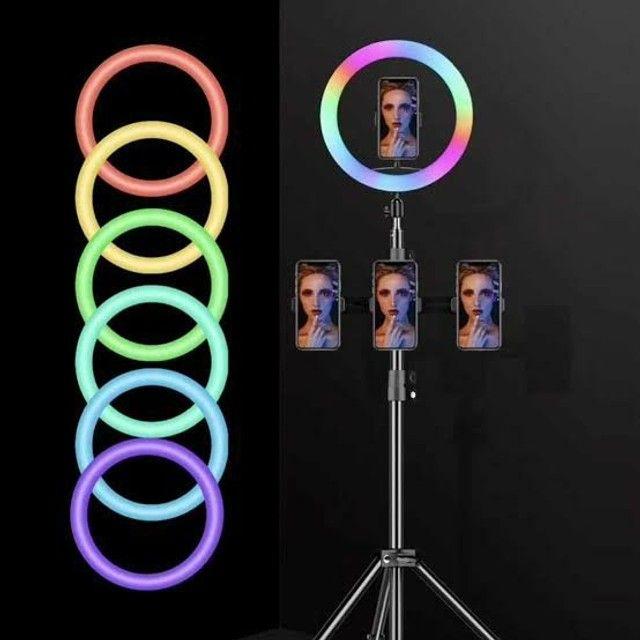 Ring Light RGB colorida 26cm 10 polegadas incrível