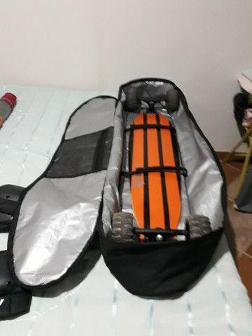 Skate Carveboard, Vela Wow Sails, Mochila Black Sheep, Material de Segurança - Foto 5