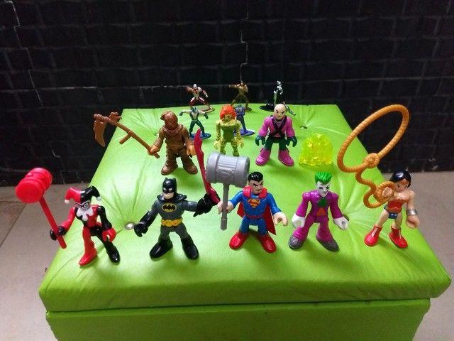 Coleção Bonecos Imaginext Liga da justiça + Brindes - Foto 5