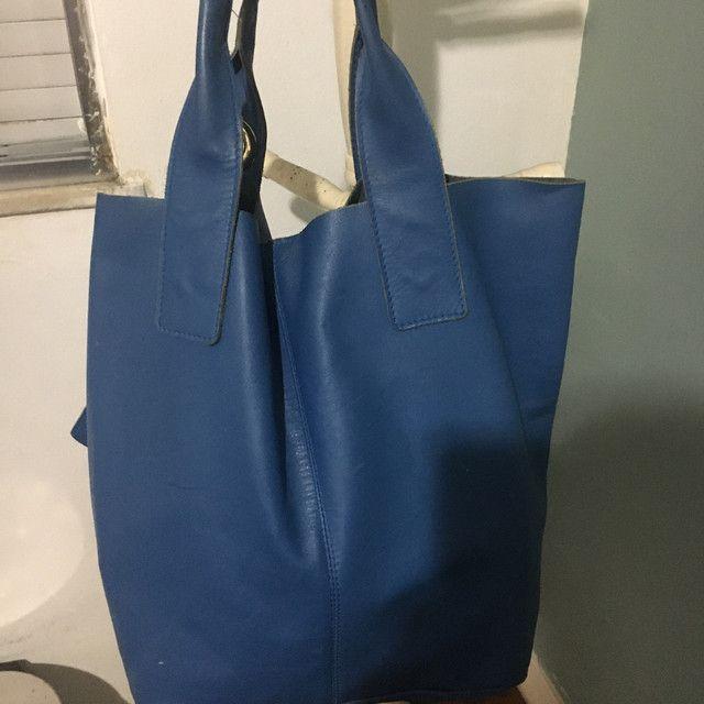 Bolsa de couro legítimo - Foto 3
