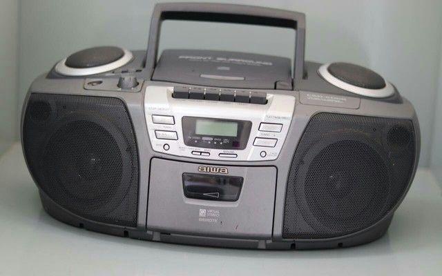Rádio som Aiwa csd-ed68 funciona tudo