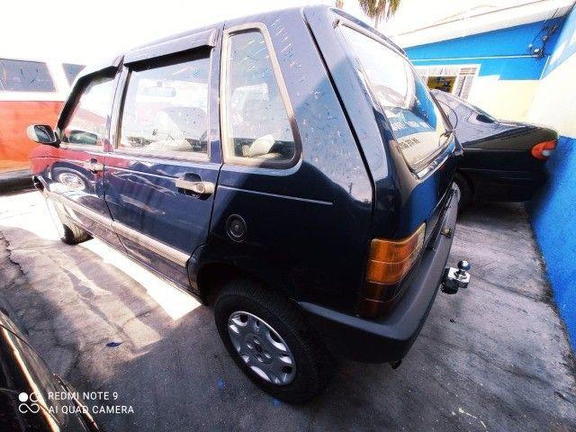 Fiat Uno Mille 4p 1.0 EP 1996 Azul (S/ Entrada R$: 399,90) Top Car Aprova Fácil - Foto 4