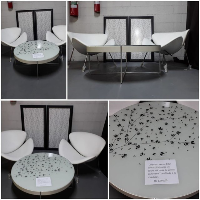 Mesa e poltronas