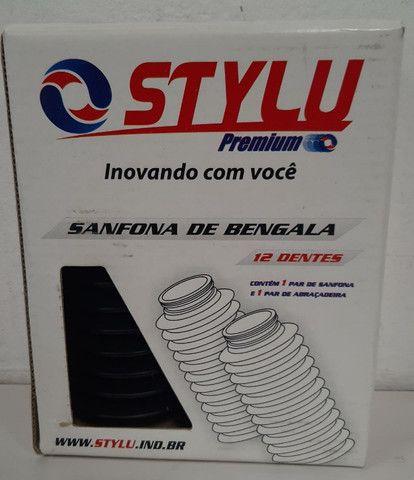 Sanfona Bengala 12 Dente Preta - Foto 2