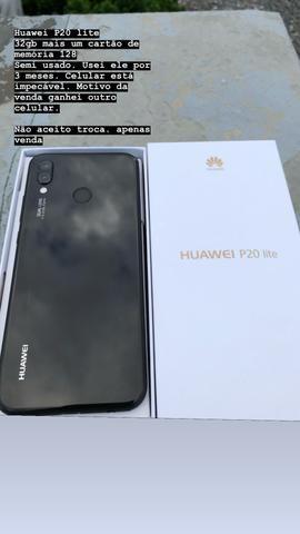454ecfe9234 Huawei p20 Lite 32gb acompanha cartão de memória 128gb