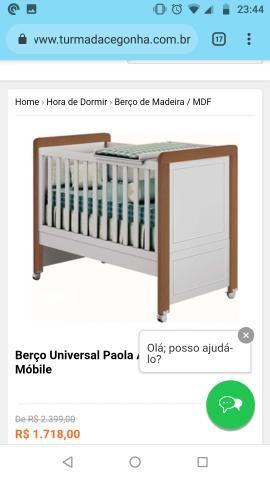 Berço Puppi Mobile 100% MDF vira cama