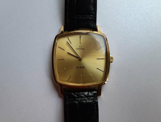 9fd73491d55 Relógio Omega De Ville Plaquê de ouro à corda manual antigo masculino