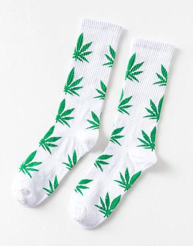 Meia Estampada Weed HUF Cannabis Algodão Adulto - Foto 3