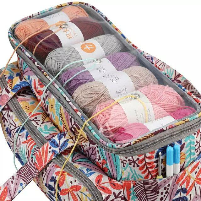 Bolsa  para guardar  as agulhas de crochê