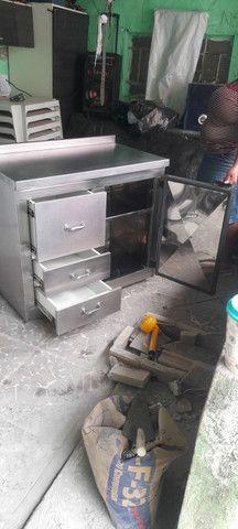 Balcão industrial revestido de inox  - Foto 4
