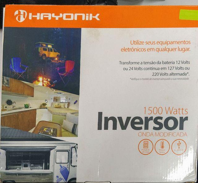 Inversor 1500watts, AC 12 ou 24vdc/127v - Hayonik