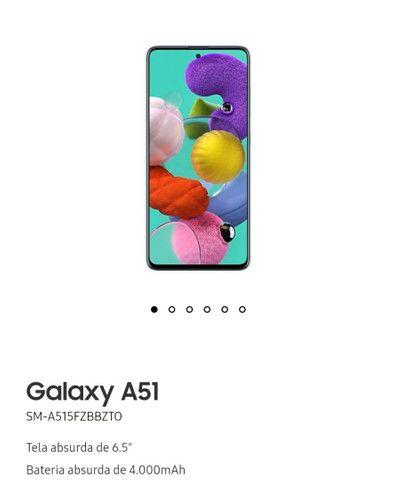 Samsung A51 com relógio