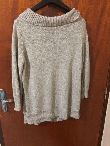 Blusa comprida feminina  - Foto 2