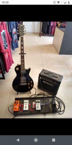 Kit guitarra cubo pedais