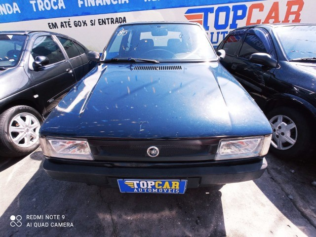 Fiat Uno Mille 4p 1.0 EP 1996 Azul (S/ Entrada R$: 399,90) Top Car Aprova Fácil