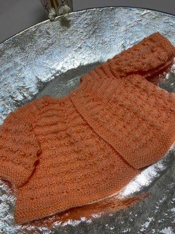 Casaco de lã para recém-nascido