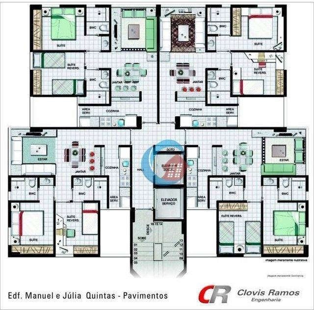 Apartamento com 2 quartos para alugar, 45 m² por R$ 1.700/mês - Espinheiro - Recife/PE - Foto 13