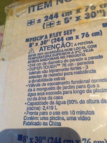 Piscina Intex 2.419 Litros + Filtro + bomba+Base acolchoada.  Completa*** - Foto 4
