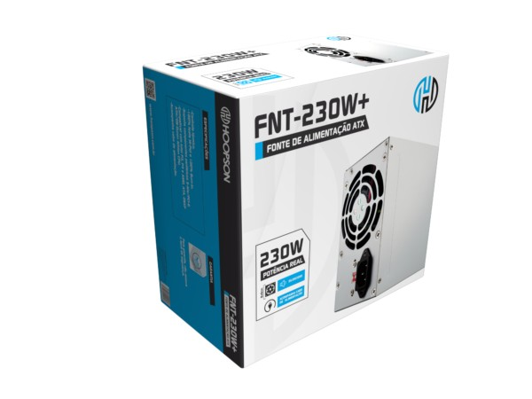 Fonte ATX 230W com cabo de força.
