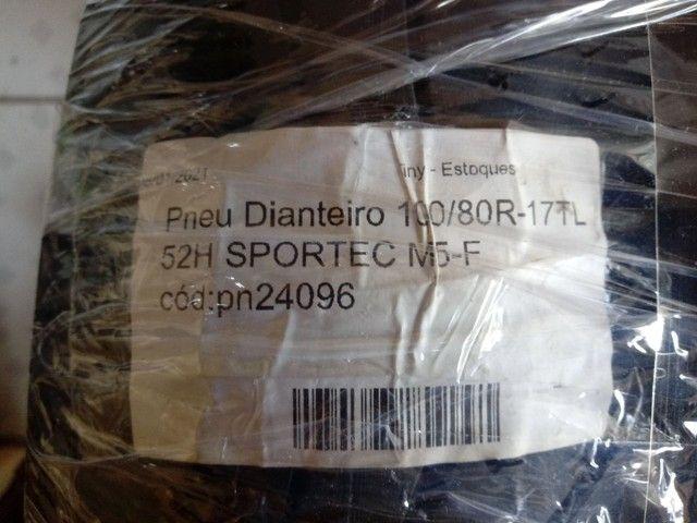 Par Pneu 110/70 R17 + 140/70 R17 Sportec M5 Yamaha Mt03/ R3<br><br> - Foto 3