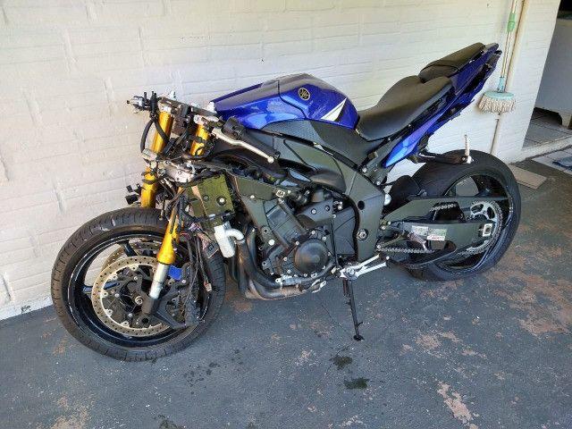 Sucata de moto para venda de peças Yamaha Yzf R1 crossplane 2014 14 - Foto 3